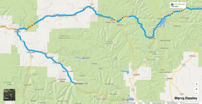 Aspen to Denver via GlenwoodSprings